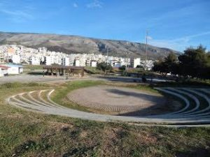 Halikaki amphitheatre across from CoWork.gr Athens Greece,shared office space Atehns Greece