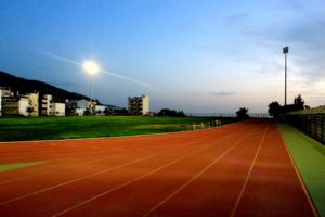 Halikaki track across from CoWork.gr Athens Greece